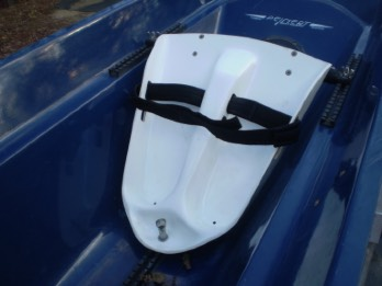 Clog stretcher installed on Peinert Dolphin rowing shell