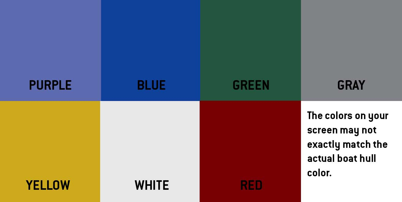 Hull color samples of Peinert rowing shells